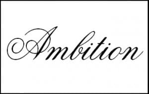 ambition文字
