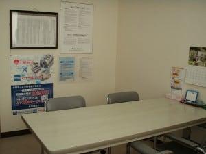 個室の相談室になります。